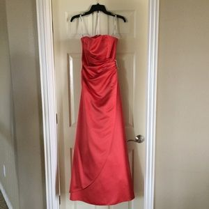 David's Bridal Size 4 Style 8567 Red Evening  Gown